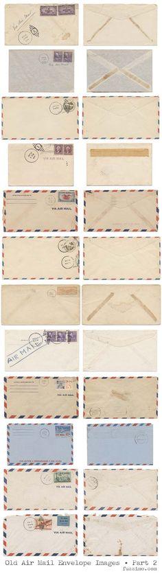 Old Air Mail Envelopes