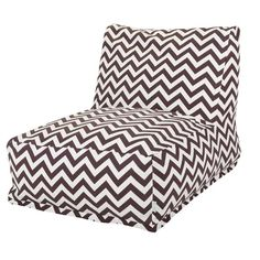 Chevron Bean Bag Chair in Chocolate