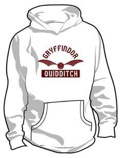Amazon.com: Harry Potter: Gryffindor Quidditch Hooded Sweatshirt: Clothing