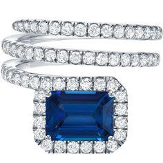 Royal Blue Sapphire And Diamond Ring