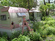 camper in back yard
