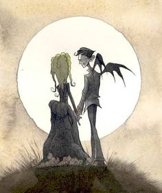 Hubby bought me this piece by Gris Grimly...absolutely love it.  From Boris & Bella