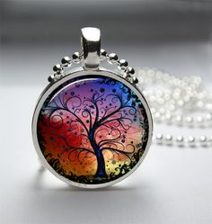 Free Shipping  1in Circle Glass Bezel Pendant  by HipsterDesigns, $6.98