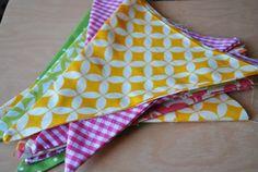 Pink Stitches: DIY Pennant Banner