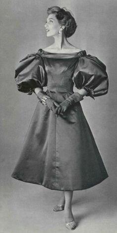 Fashion by Jacques Fath, 1955.