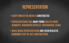 All about representation.
