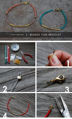 DIY: beaded tube bracelet