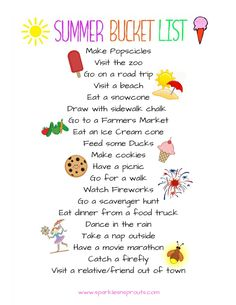 A fun bucket list to