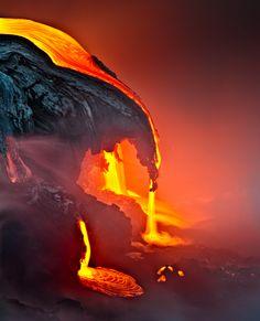 A Night in the Fire - Kilauea, Hawaii