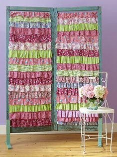 ruffled curtains from scraps...wow!