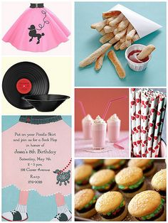 Cute 50's Stuff...http://blog.finestationery.com/2011/03/50s-sock-hop-party.html