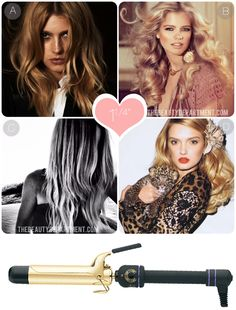 "How to use a 1 1/4"" curling iron."
