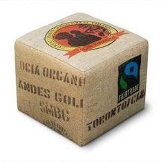 Organic coffee bean ottoman