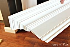 crown molding and baseboard