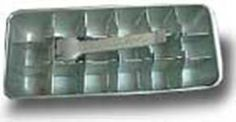 Metal ice tray.