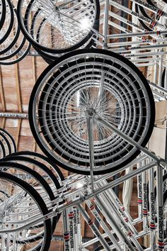 Wheels      ai wei wei      art      bicycle      installation      metal      stacked