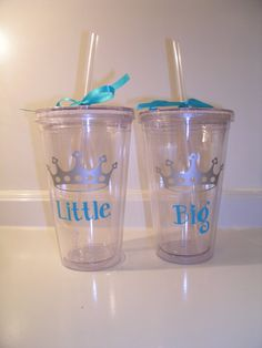 Sorority Big and Little Set of 2 Tumblers by CutitOutVinyl on Etsy, $24.00