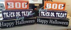 Happy Halloween blocks - $20 per set