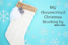 DIY embellished stocking - Styled by Tori
