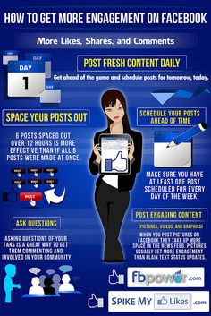 Facebook Marketing Infographic, how to get more engagement