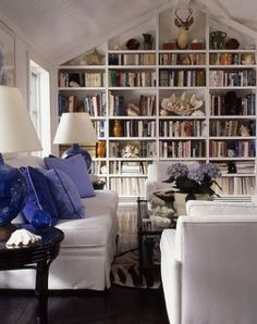 Stunning home library by Ethel