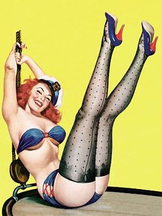 Vintage Pinup Posters: Retro pinup pictures add a tongue-in-cheek sense of fun to my home.