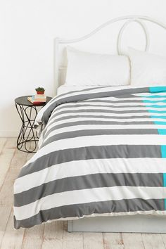 Assembly Home Dual Stripe Duvet Cover  #UrbanOutfitters