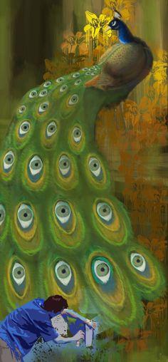 Graffiti Peacock by Szczesny