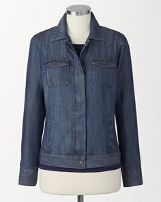 Tencel® jean jacket | Coldwater Creek