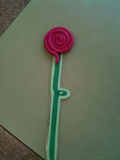 Rosa d'espiral de plastilina