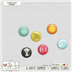 A Boy's Summer flairs freebie from Red Ivy Designs