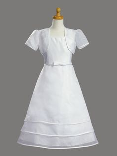 Tea-Length First Communion Gown fe048 $65.00