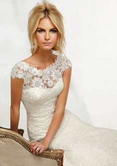 Stunning Lace Wedding Dress from Angelina Faccenda Spring 2013 Bridal Collection