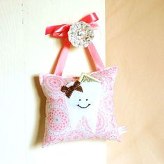 Adorable shabby chic girls tooth fairy pillow!