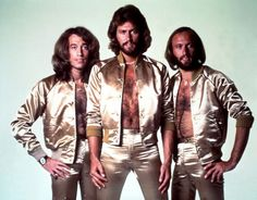 The Bee Gees. FUN FACT:  Each of my boobs is named after a Gibb brother.