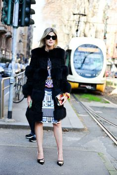 Sofie Valkiers spotted carrying the Jimmy Choo CANDY clutch at MFW