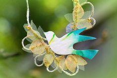 Rustc Bird jewelry for garden wedding and shabby by FiveOClocks, $69.00