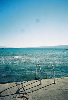 chines text, stairway, blue, california, seaside pool, beach, sweet summertim, backyards, thing