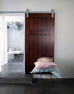 sliding door and cement floor