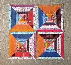 Modern Halves quilt