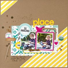 Scrapbook  Cards Today - Favorite Place by Amy Coose