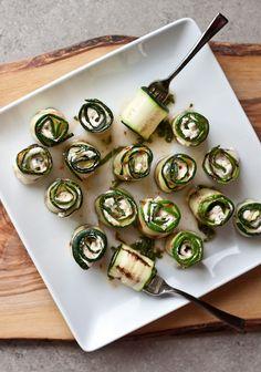 zucchini cheese rolls appetizer recipe