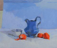 step-by-step demonstration of The Blue Jug oil paintings, oil watercolor, amateur artist, watercolor tutori, art lesson, art oil, 2d paint, art techniqu, paint oil