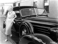 Jean Harlow & her Cadillac