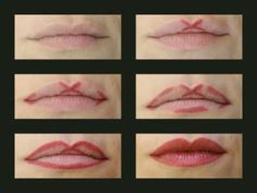 "In order to get the Cupid's Bow shape, you just need to mark an ""X"" in the center of your top lip, line the corners and then join everything together. Once you apply your lipstick, your lips will look much fuller."