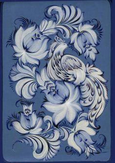 Хохлома схемы вышивки хохломы