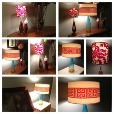 via www.thedreamhouseproject.ca Finished our #TonicFabricFun DIY lamps! Love the light play off the @Tonic Living fabrics. #TonicLiving #BlogPodium