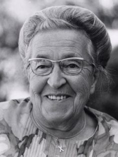 Corrie Ten Boom - Holocaust survivor and the author of The Hiding Place