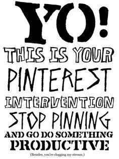 Pinterest intervention...!