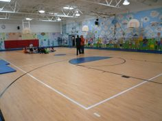 Three Princeton Elementary Schools in NJ received Omnisports 6.5 in the Summer of 2013.  Here is Riverside Elementary School.